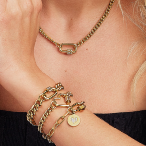 2Jewels Lucchetto Lock 'n' Chain - Ovale Stella Pvd Gold