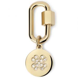 2Jewels Lucchetto Lock 'n' Chain - Ovale Quadrifoglio Pvd Gold