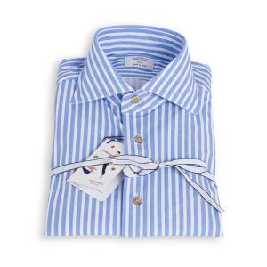 Camicia Mazzarelli Freetime Bastoncino Bianco Azzurro Stretch