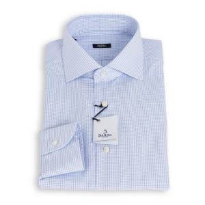 Camicia Barba Popeline Microquadretti Azzurri