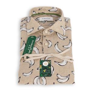 Camicia Tintoria Mattei Lino Fantasia Banane