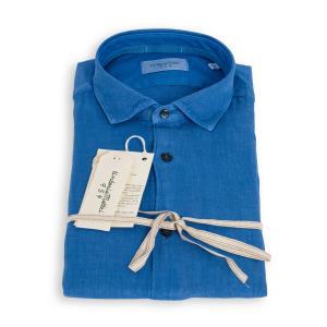 Camicia Tintoria Mattei Lino Bluette