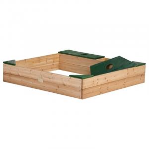 Sabbiera in legno Axi Amy con copertura Marrone/Verde