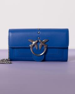 Love Wallet Simply Bluette-Silver  Pinko SS21