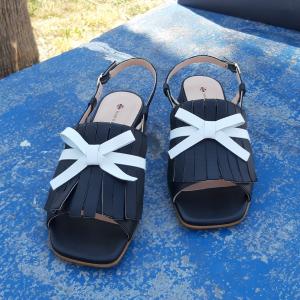 Sandalo in nappa con fiocco Marco Firenze