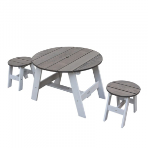 Set picnic per bambini rotondo Axi Grigio/Bianco 3 pezzi