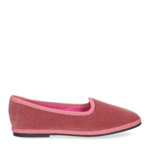 Le Babe Slipon friulane velluto rosa-2