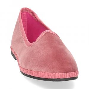 Le Babe Slipon friulane velluto rosa-3