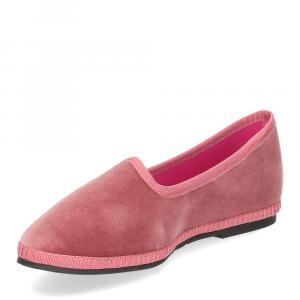 Le Babe Slipon friulane velluto rosa-4