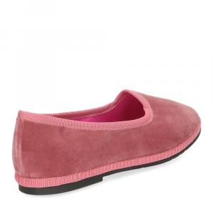 Le Babe Slipon friulane velluto rosa-5