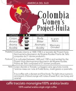 Caffè monorigine Colombia Women's Project Huila confezioni da 250 e 1kg