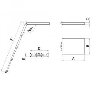 Foldaway ladder Montecarlo