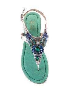 Bottega Smeralda Infradito Verde e Blu