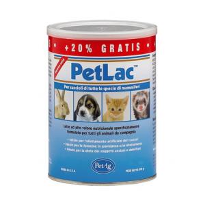 PET LAC LATTE CUCCIOLI 300 GR - Latte per l'allattamento artificiale di cuccioli di tutte le specie di mammiferi
