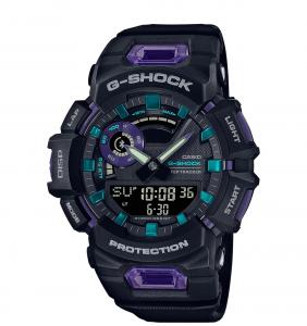Casio G-Shock G-Squad, orologio digitale multifunzione, cassa viola e nera