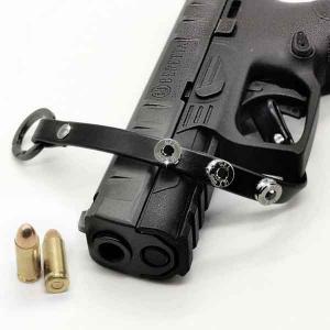 Bracciale in pelle black basic finitura canna di fucile con brillanti neri