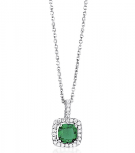 Mabina Collana Argento - Smeraldo sintetico