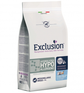 Exclusion - Veterinary Diet Canine - Hydrolyzed Hypoallergenic - Medium/Large - 12kg