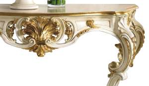 Console style baroque feuille d'or