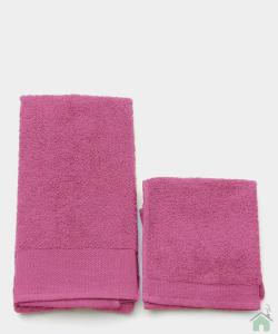Asciugamano con ospite da bagno Happidea 460 gr Fresia