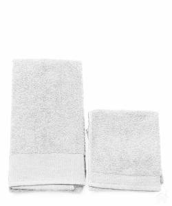 Asciugamano con ospite da bagno Happidea 460 gr Bianco