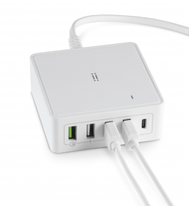 Charging Station Caricatore con Type-C PD + QC 3.0 + 3 USB - 60W Max
