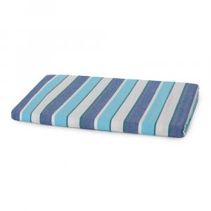 Bassetti Copriletto leggero Tapas in cotone color Turchese blu a righe