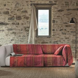 Bassetti Granfoulard Möbelbezug URBINO rot R1 3 Größen
