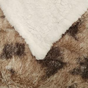 Plaid con effetto agnellato in pile Pigalle marrone coperta 130x160 cm