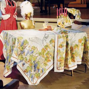 Rechteckige Tischdecke 170x270 cm Tessitura Toscana VIOLETTA reines Leinen