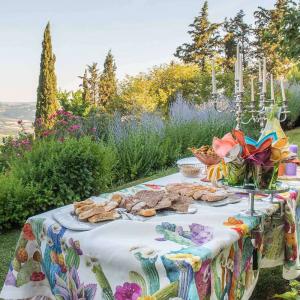Tischdecke Tessitura Toscana Telerie Reinleinen KACTUS - verschiedene Größen