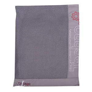 Unisex grauer Techno-Mikrofaser-Kapuzenbademantel mit Gürtel