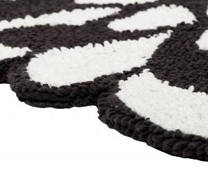 Badteppich Missoni Home 80 cm Durchmesser weiß und schwarz OTIL