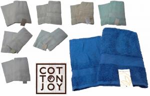 Coppia asciugamani spugna COTTON JOY 1 Viso + 1 ospite. 100% Cotone. Vari colori