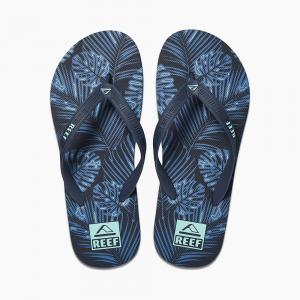 Ciabatte Reef Seaside Prints Navy Palms