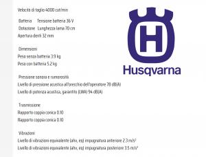 TAGLIASIEPI TOSASIEPI  A BATTERIA HUSQVARNA 536 LiHD70X - BATTERIA ESCLUSA