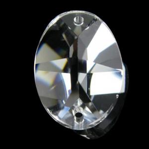 Ovalino 24 mm 2 fori cristallo -Asfour 1100-