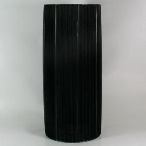 Paralume 20x45 cm cilindro rivestito in velo siena color nero.