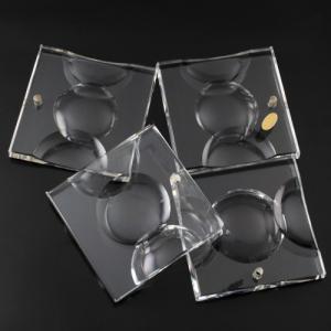 Pendente in vetro puro di Boemia h72 mm rettangolare. Per restauro lampadari vintage