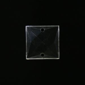 Quadruccio cristallo acrilico sfaccettato 2 fori, da cucire o incatenare, colore puro