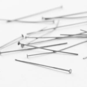 Spillo a chiodo nickel 40 mm per cristalli e perle filo 0,8 mm