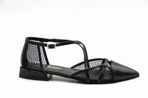 NOVITA' P/E 2021 Elvio Zanon Calzatura Donna-Parma+Rete/Nero+Nero EL5601X