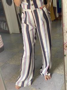 Pantalone Palazzo Righe Vicolo Taglia M