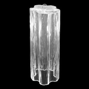 Tronco pendente in vetro di Murano cristallo trasparente