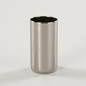 Bicchierino metallico G9 Ø21 x h40 mm finitura galvanica nickel lucido.