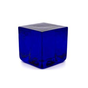Blocco mattone sanpietrino blu trasparente vetro Murano
