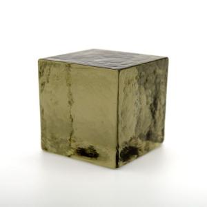 Blocco mattone sanpietrino grigio fumo trasparente vetro Murano