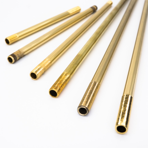 Canna per lampadario Ø10 mm x L600 mm con filetti M10x1 oro galvanico