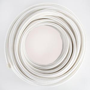 Cavo elettrico tondo isolato in PVC rivestito tessuto bianco. Sezione 3x0,75
