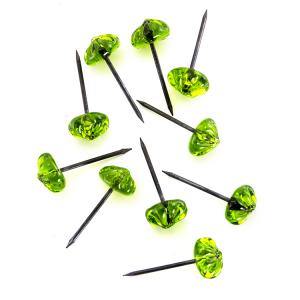 Chiodo con testa in vetro di Murano cristallo verde fatta a mano